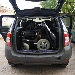 Dacia Logan MCV 2016, žeriav na nakladanie vozíka