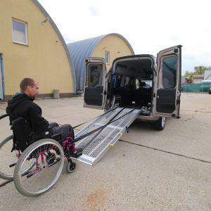 Elektrický navijak na nadkladanie voziičkára