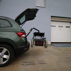 žeriav na nakladanie vozíka
