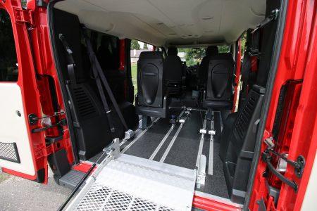 Fiat Ducato L1H1 s mechanickou rampou + kotvenie vozíka