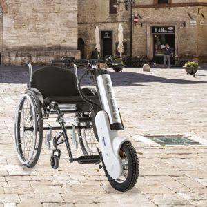 Prídavný pohon pre mechanický vozík